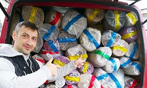 Стирка ковров с вывозом в цех в Днепре
